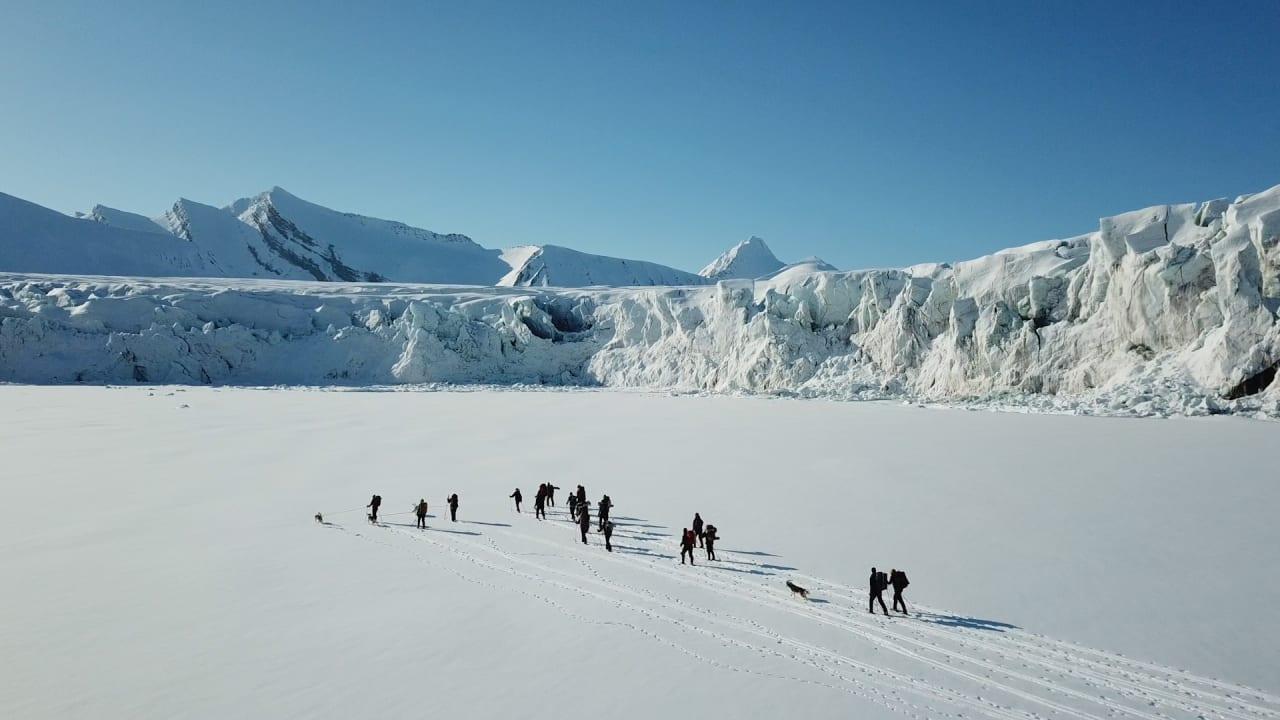 Tur på Svalbard under opptak.