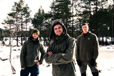 Fra venstre: Peter, Marius og Ivan. Foto: Privat
