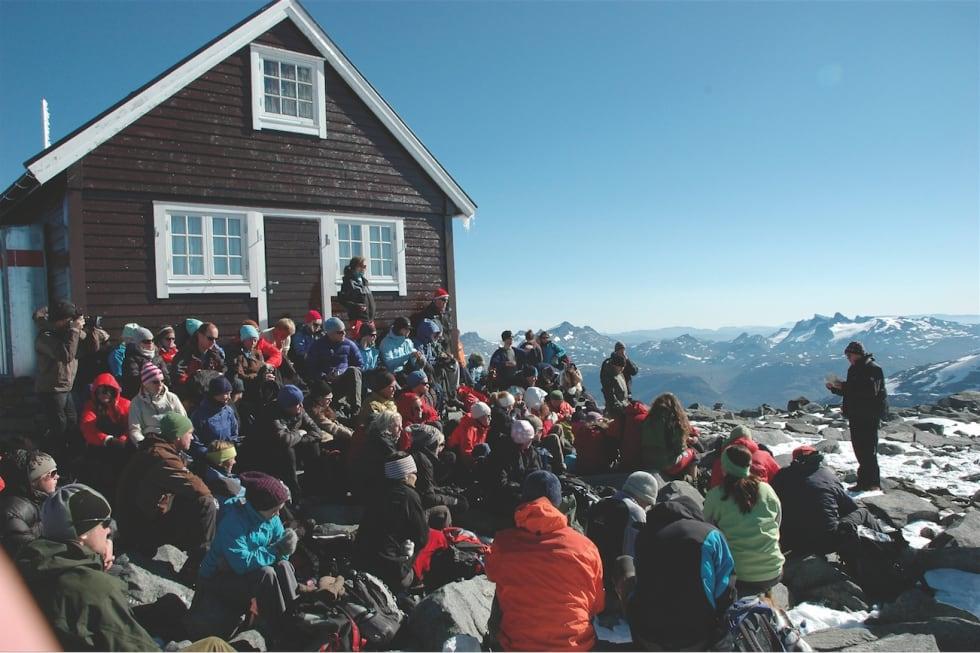 På toppen av Fanaråken. Foto: Sandra Lappegard