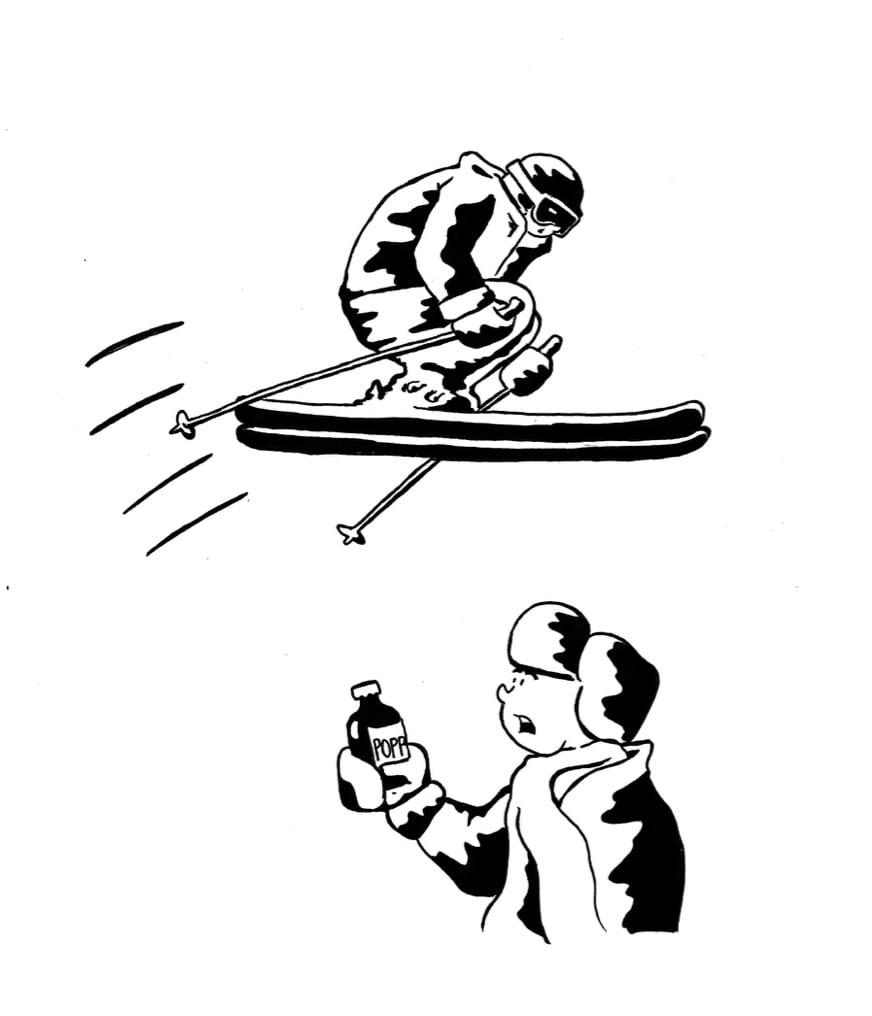 DEN HEMMELIGE SAUSEN: God stil på ski krever «popp». Men hvor får man tak i den? Ilustrasjon: Kristian Tiller Torsvik