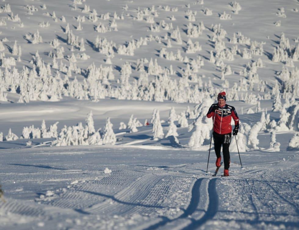 FOKUS: Om du vil delta i konkurranser eller bare nyte lange dager ute i fjellet, lønner det seg å ha et par gode skisko. Foto: Tore Martin Gundersen