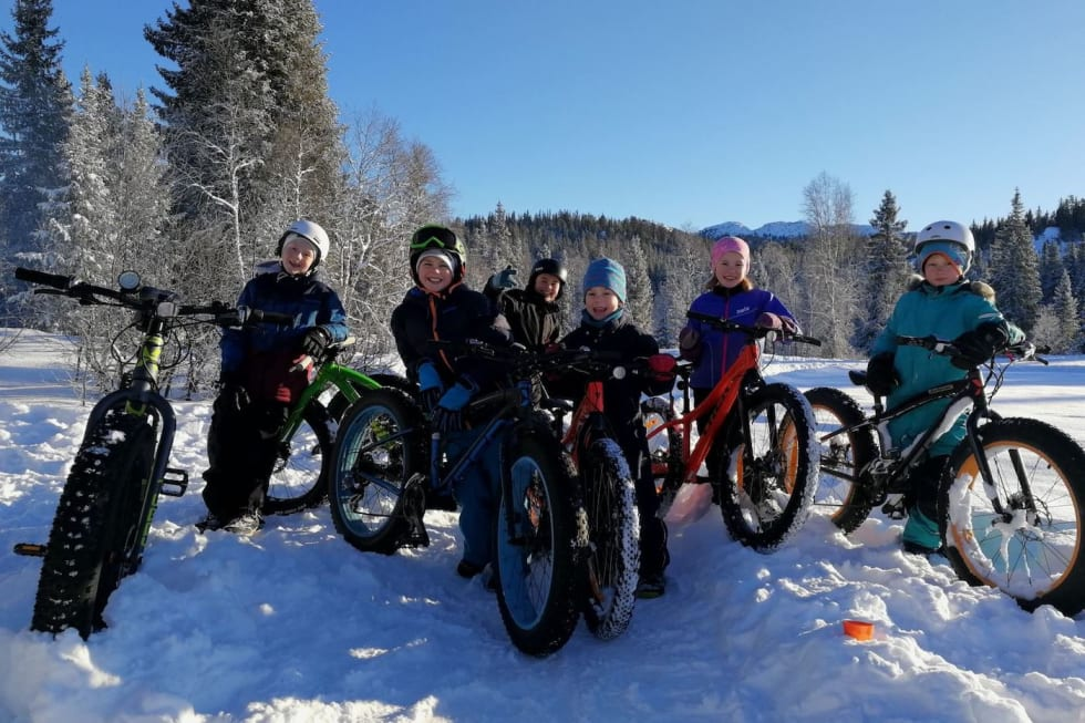 Vinterløypa i Øyfjell er populær både blant ferske og erfarne tjukksyklister. Foto: Øyfjell Fatbikeløype