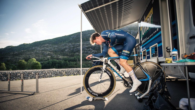 temposterk: I en hard tempoløype ble Truls en outsider til NM-tittelen i tempo i 2016, og ble til slutt nummer ni. Året før ble han nummer tre på hjemmebane på Lillehammer. Foto: Henrik Alpers.