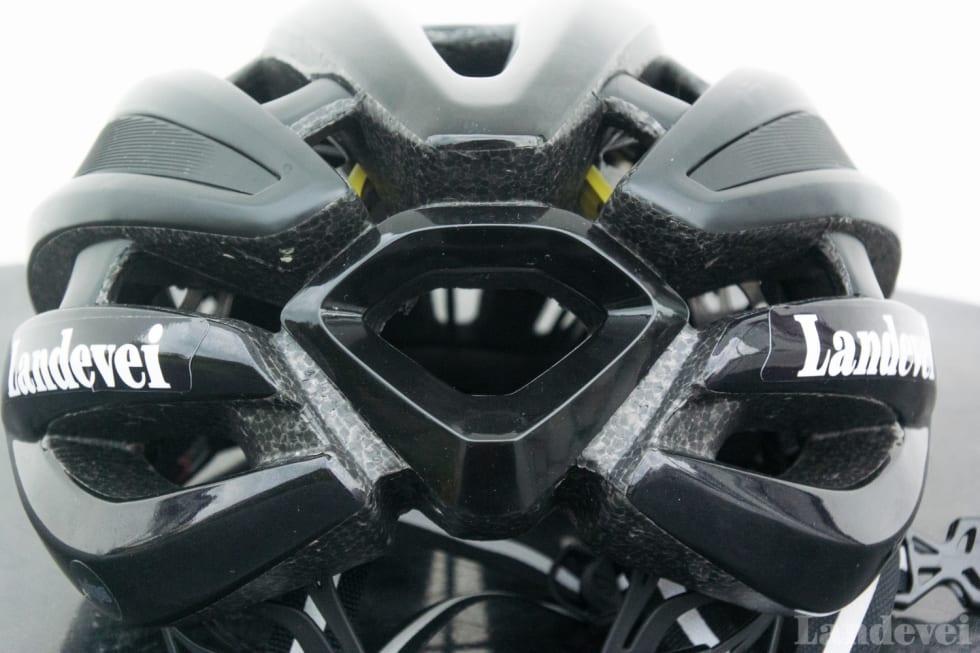 BORTE: Det store ventilasjonshullet er på originale Synthe dekket av en Giro-logo. Her er det heller lufting.