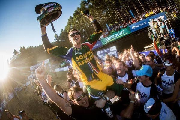SPESIELL: Greg Minnaar vant VM på hjemmebane i Pietermaritzbourg i 2013. Foto Gary Perkin