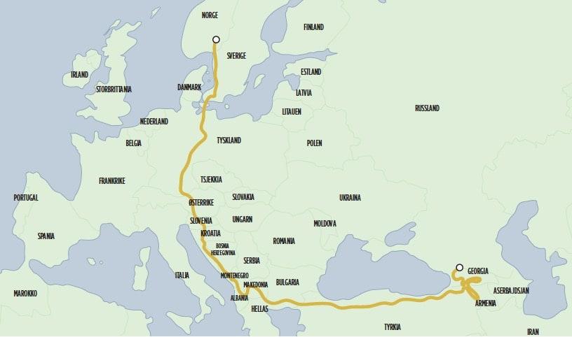 Den lange veien hjem.