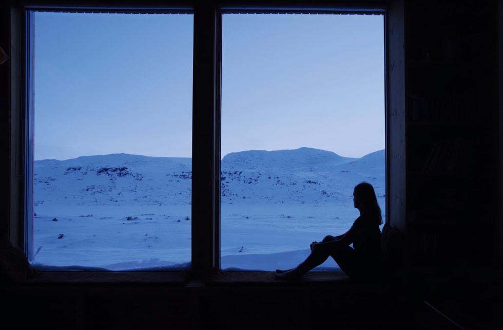 FINSE: Familien til Sigri har hatt hytte på Finse i over 40 år. For nokre år tilbake fekk Sigri bygd si eiga hytte. Her blir natta mørk og stjernene lyse.