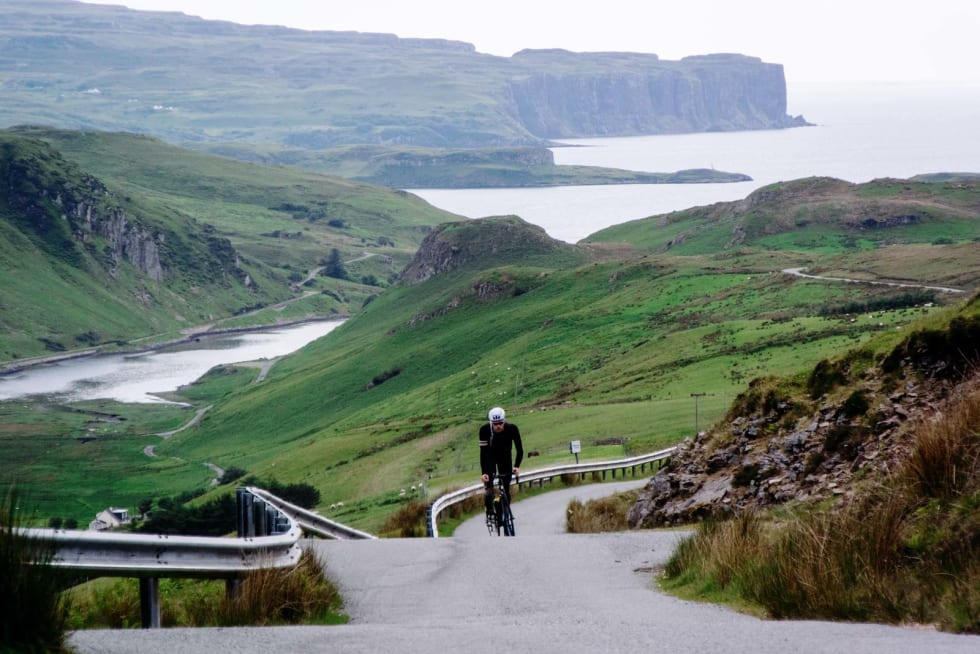 HJEMTUR: Veien fra Bracadale på Skyes vestkyst over til Portree, gir deg fantastisk utsikt over de frodige engene.