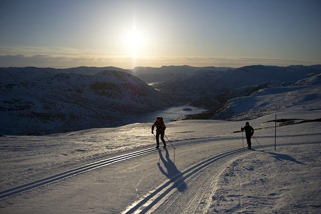 FEELGOOD: Høyfjellsløypene snor seg rundt og over fjellene som omringer Hovden på alle kanter. Foto: Per Arne Andersen
