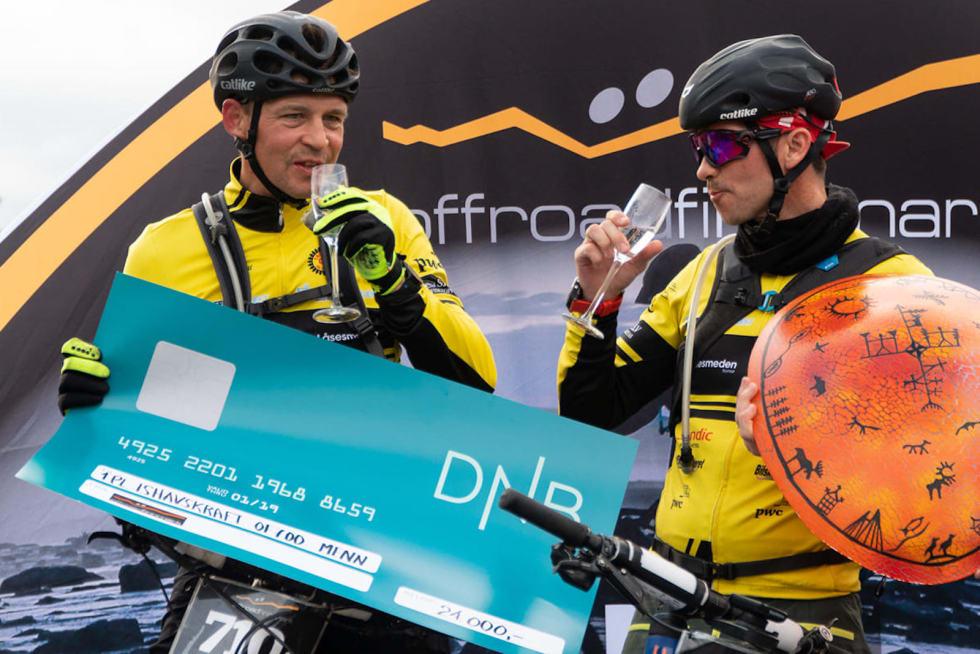 Einar Bjørn og Andreas Setting vant OF700 elite. Foto: Offroad Finnmark