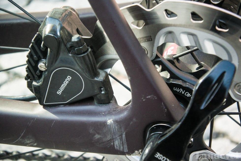 FREMTIDSRETTET: Fara bruker den nye flat mount-standarden på sine sykler.