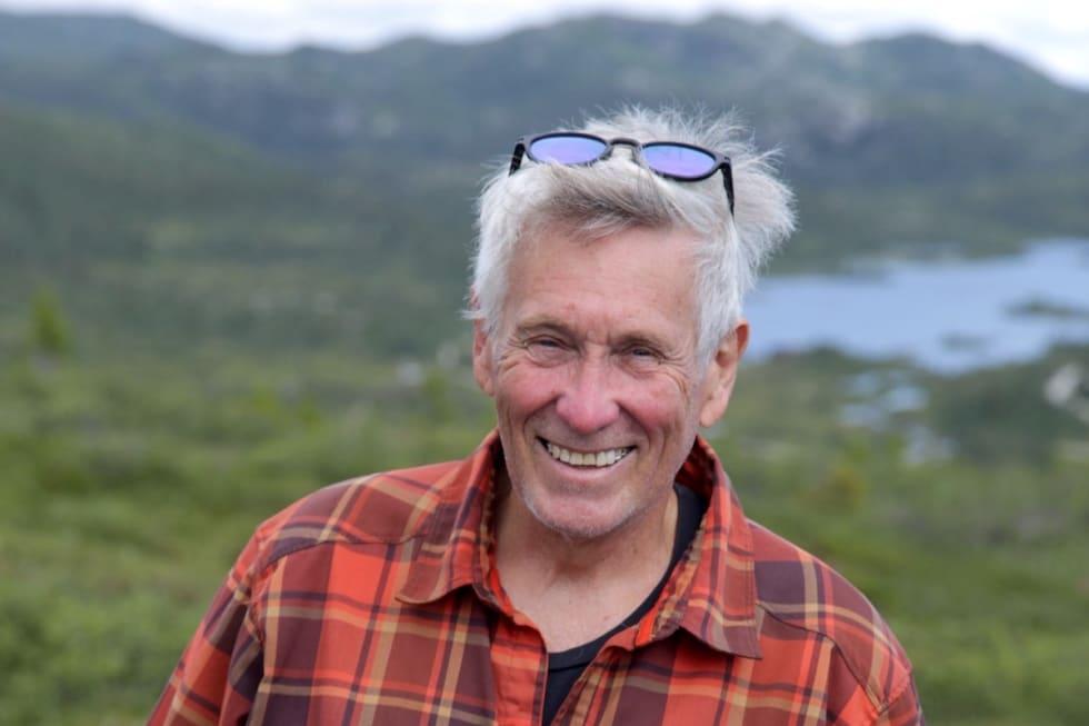 Glen Jacobs i World Trail Ltd er i Norge for første gang i forbindelse med design av stisykkeltilbudet i Høgevarde. Foto: Harald Haaland