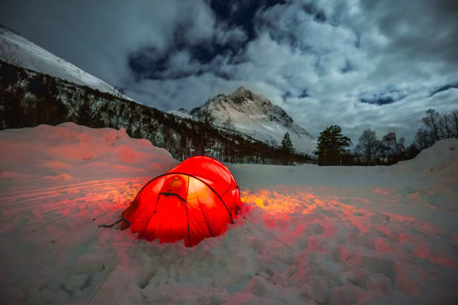 FINT NABOLAG: Nydelige omgivelser ved campen i Vengedalen. Foto: Sindre Kolbjørnsgard