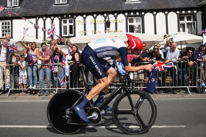 BRADLEY WIGGINS: I OL i London droppet han Pinarello Graal og valgte heller en «Metron». Foto: Team Sky.