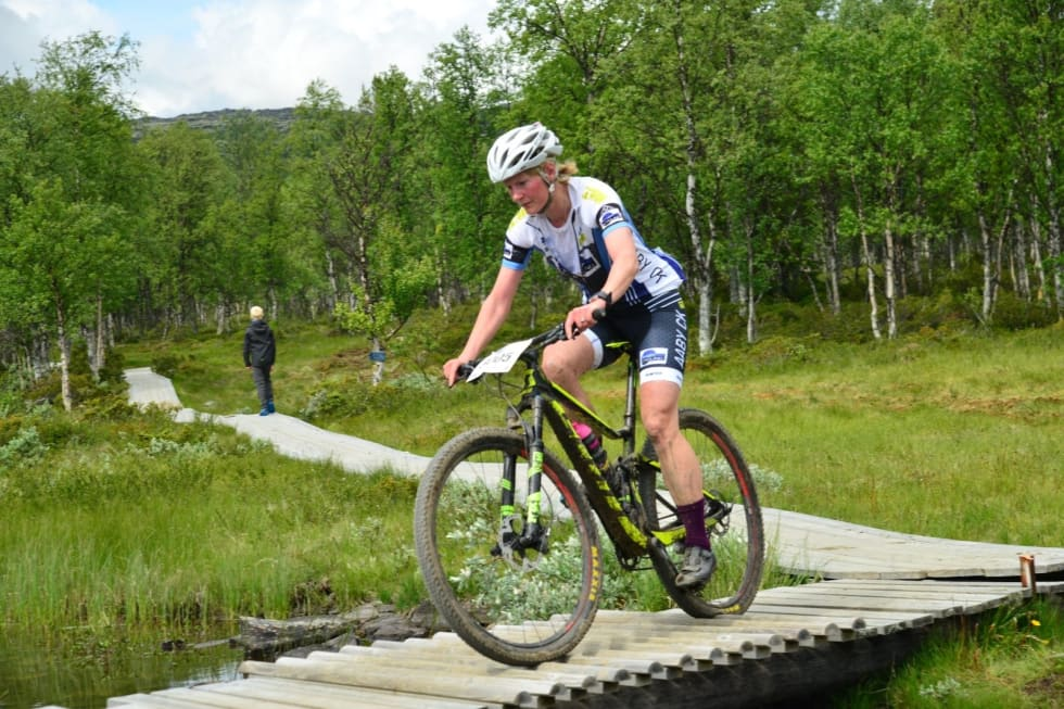 Marianne Sandaker tok Norges eneste EM-gull i master kvinner. Foto: Ola Dahl