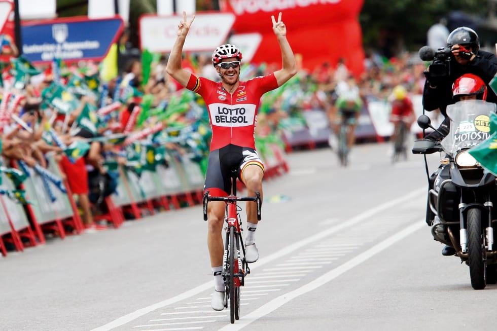 MR. GRAND TOUR: Som eneste rytter i sykkelhistorien har Adam Hansen syklet tjue treukersritt på rad. Den ene av hans to WorldTour-seiere kom i Spania rundt i 2014. Foto. Cor Vos.
