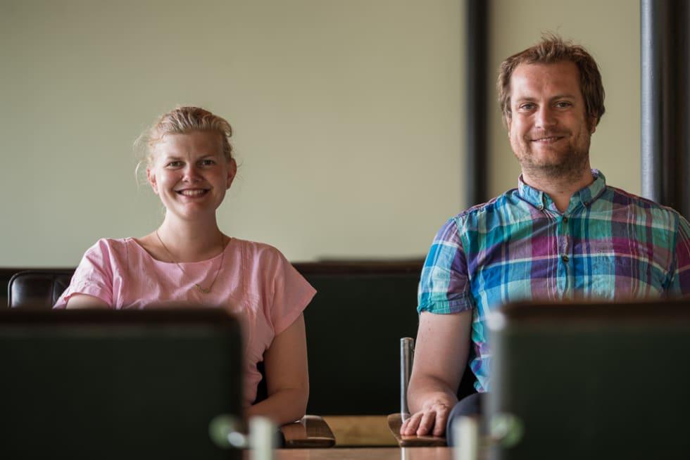 ENERGISKE: Ekteparet Olav Lindseth og Gunhild Moe driver Energihotellet sammen. De har allerede utvidet siden Landeveis besøk.
