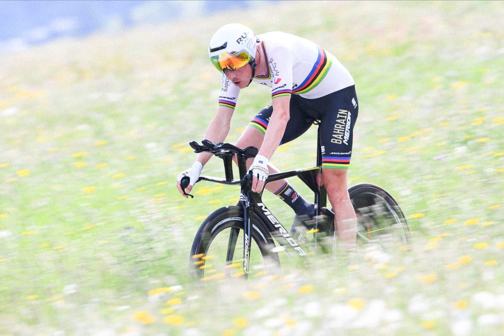 GOD NOK? Rohan Dennis' seier i Sveits rundt er trolig et bevis på at Time Warp TT holder mål. Foto: Cor Vos.