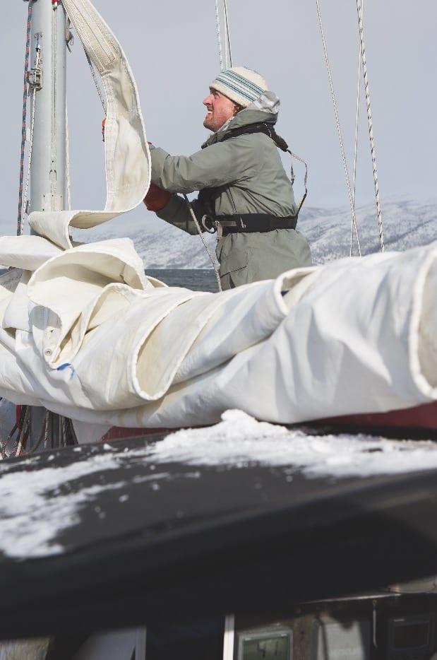 SKIPPER CHRISTENSEN: Morten Christensen er mest kjent for å bo i bil eller båt og jakte snø.