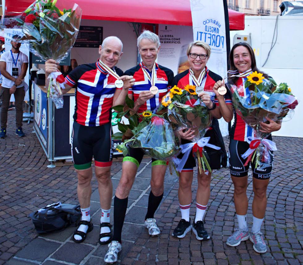 Jan Brodin - Kaare Christoffersen - Trine Hansen - Kristin Falck - VM tempo Varese 2018 - Jah Langleite 1000x