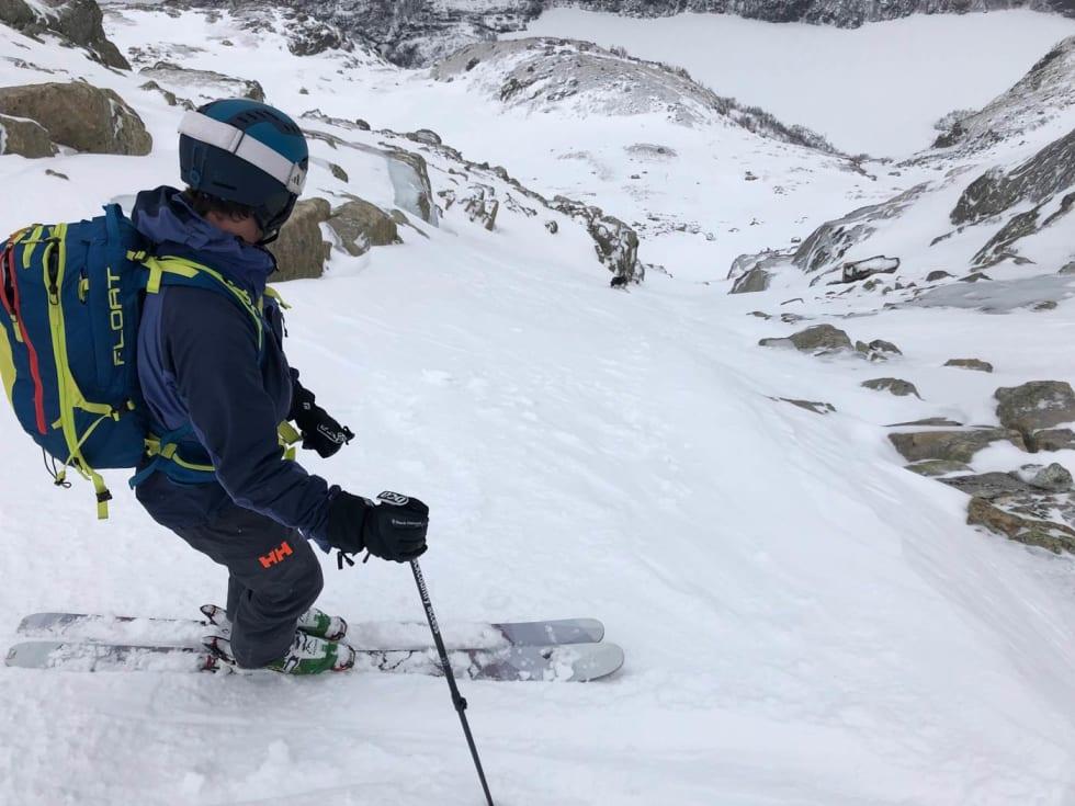 Formasjoner. Mindre snø gir også tydeligere terreng med artige formasjoner. Foto Audun Holmøy Røhrt.