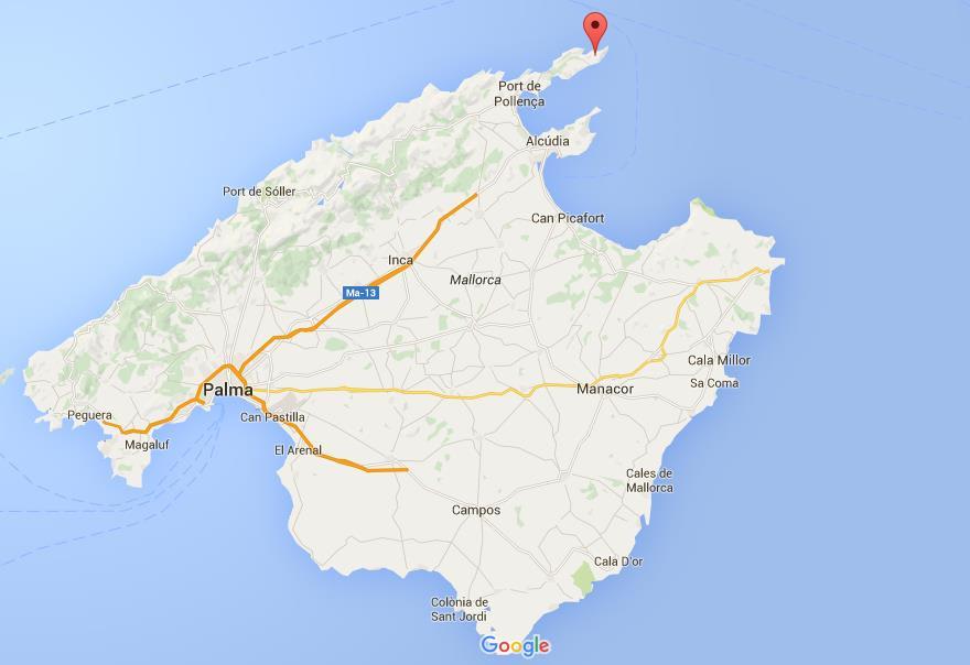 HELT NORD: Norske syklister bor oftest ved Palma - men det er oppe ved fyret verdens flotteste blindvei ligger.