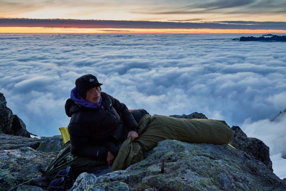 LYS VÅKEN: Naturfotograf Gunnar Wangen har fått sansen for å ta natta ute, men av helt andre grunner enn at han sover bedre i fjelluft.