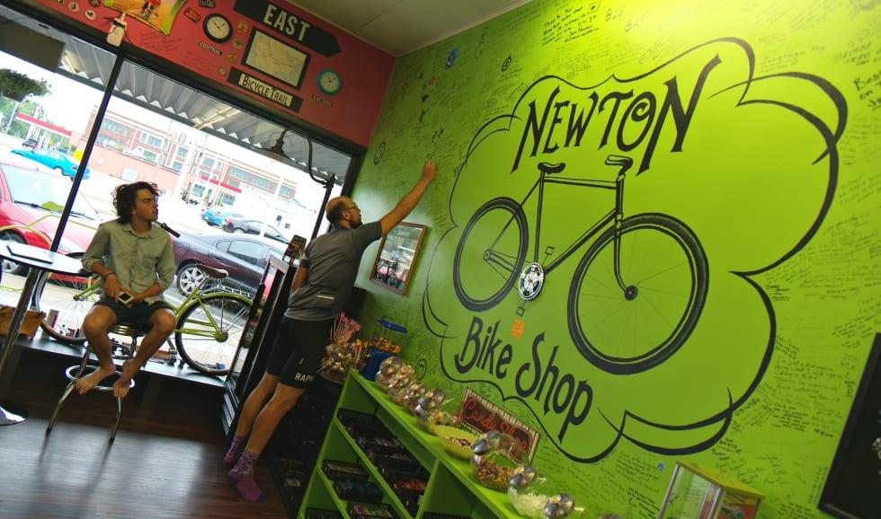 Syklisthostellet i Newton med gratis øl på tap anbefales