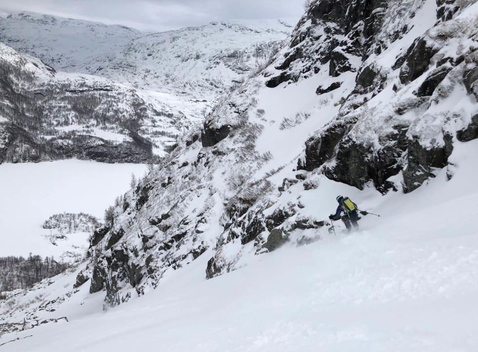 Bolledalen. God snø og fine fallinjer. Foto: Audun Homøy Røhrt
