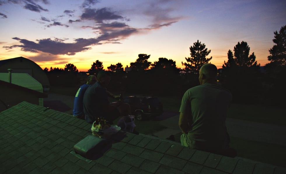 En fantastisk kveld på taket til Ben med Sykkelgunnar