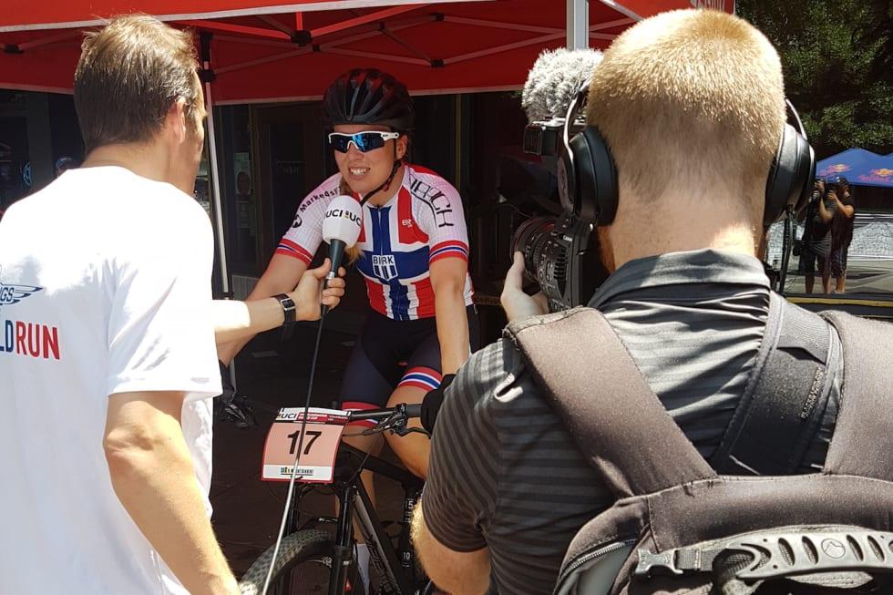 Ingrid Sofie Bøe Jacobsen winning - UCI Sprint WC USA June 3-18 - Vegard Utne 1400x933
