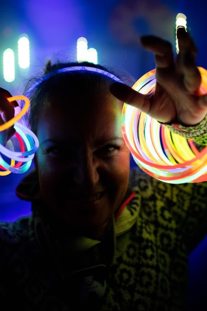 Glowstickfest. Foto: Per Finne
