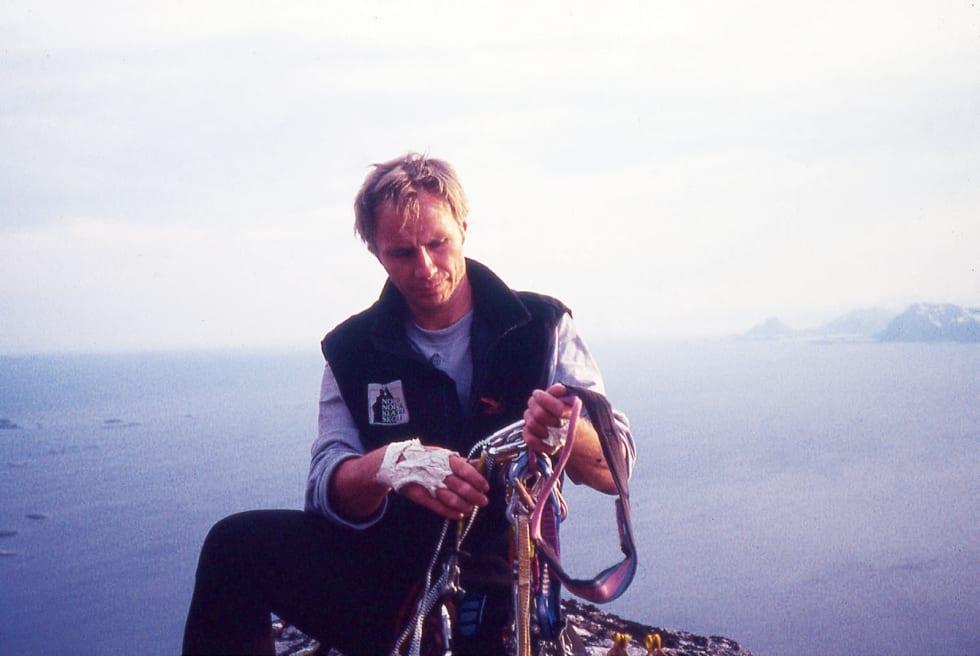 1994: Thorbjørn Enevold på toppen av Presten for over 20 år siden. Foto: Foto Trond Solberg