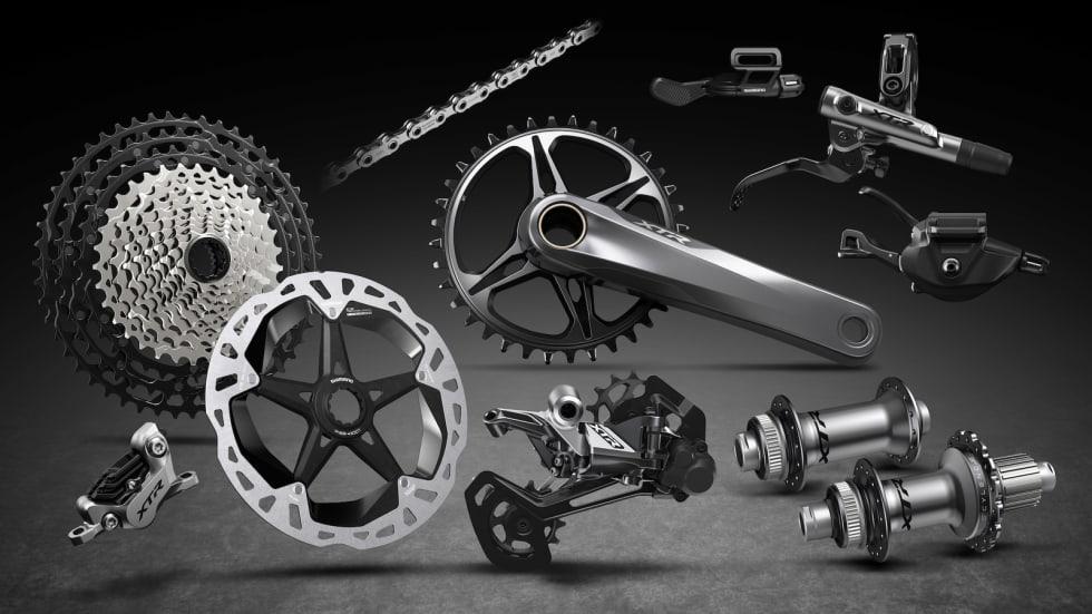 I ALL SIN PRAKT: Dette er de nye XTR-komponentene fra Shimano.
