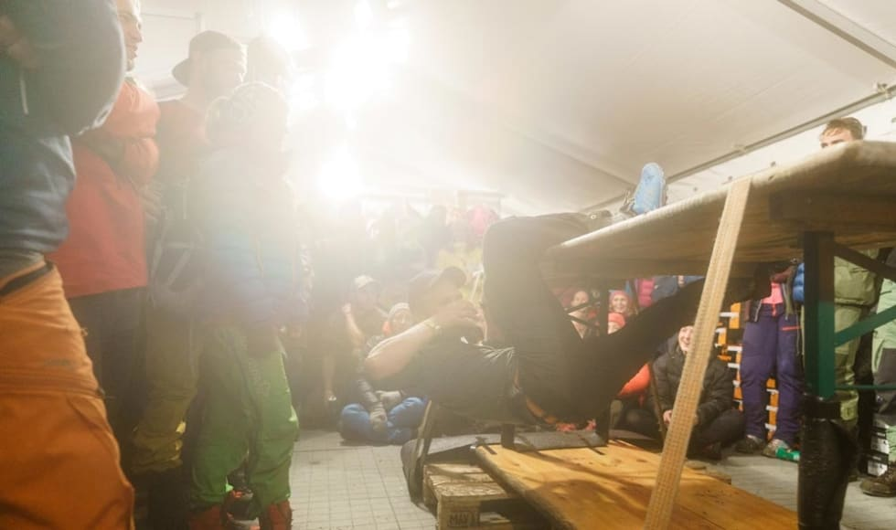 Uformell buldrekonkurranse. Foto: Per Sandnes