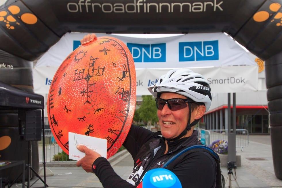 Nina Gässler vant Offroad Finnmark 700 solo. Foto: Offroad Finnmark