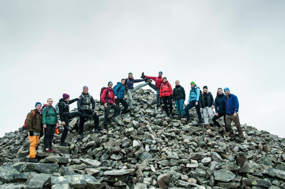 Hyggelige fellestur. Bli kjent med flere fjellfolk. Foto: Alexandra JarnaH