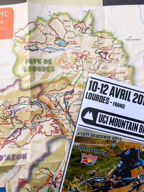 GODT MERKET: VTT-løypene i Frankrike gjøres tilgjengelige med et fint kart fra turistkontoret.