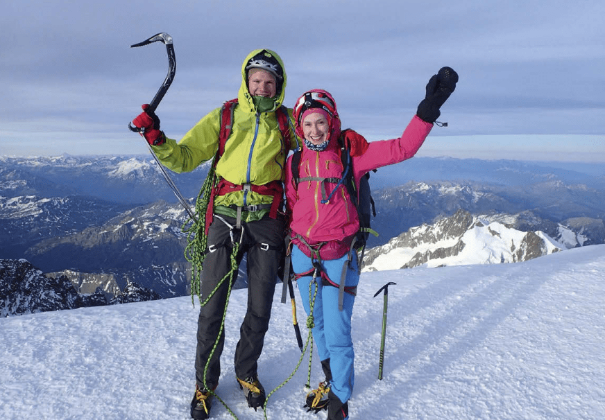 FLERE ALPER: Håvard og samboeren var på Mont Blanc, og fikk sansen for Alpene. Foto: Håvard Myklebust