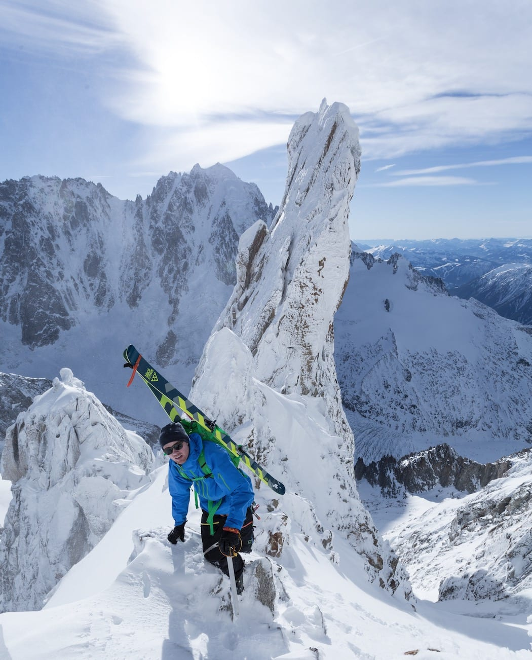 PÅ TUR: Nikolai er lommekjent i Chamonix, etter å ha tilbragt tre sesonger på rad i den franske skimetropolen. Bilde: Bruno Compagnet