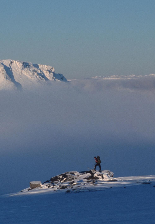 På toppen av Giskedalstuva. Foto: Lars Krempig. / Trygge toppturer.