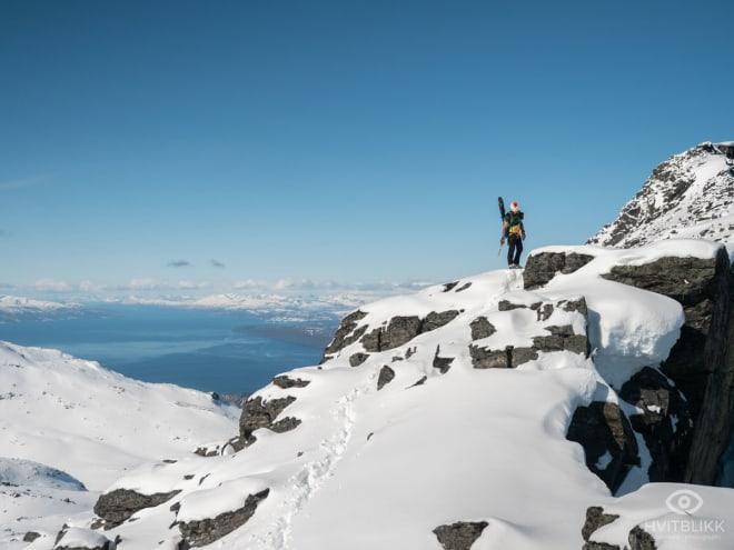 Nesten oppe! Foto: Timme Ellingjord