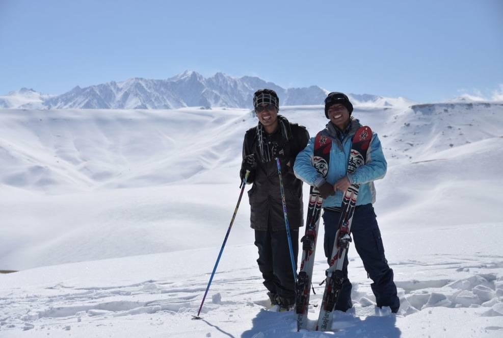 Fantastiske fjell. Med ski blir de enda mer verdt: Foto: Henriette Bjørge