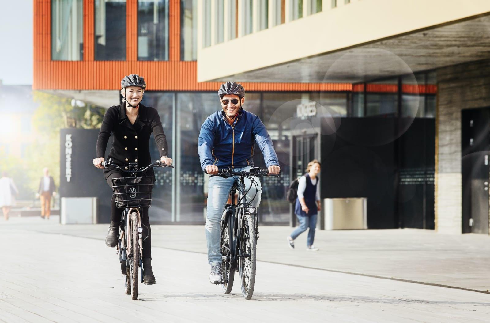 UANSTRENGT: Med en motor går det lett å velge sykkel om du skal ut. Foto: Ecoride