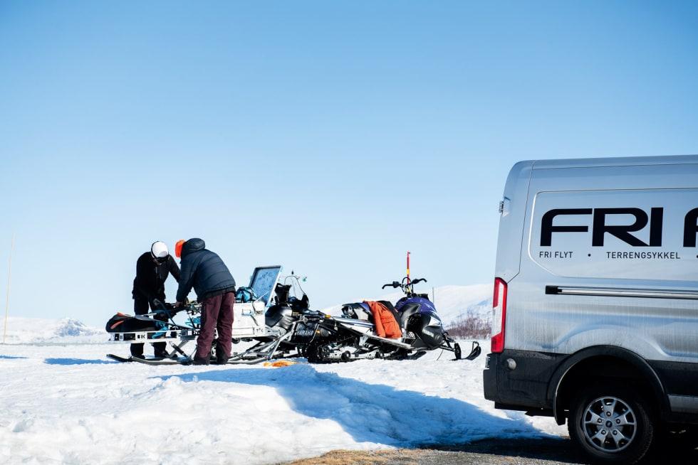 VEILØS: På vinteren er det ikke vei inn til Strynefjellet Sommerskisenter. For å komme inn må man kjøre skuter fra Grotli.