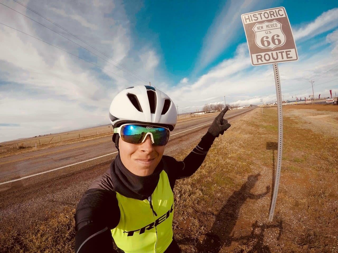 ROUTE 66: I løpet av ukene følte Jonas Orset seg stadig mer velkommen i USA. Foto: Jonas Orset