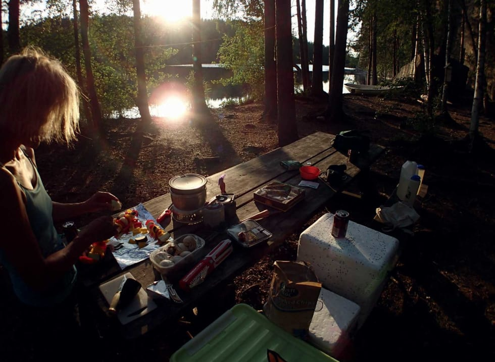 KOS: Matlaging i campen. Foto: Toni Fohlin.