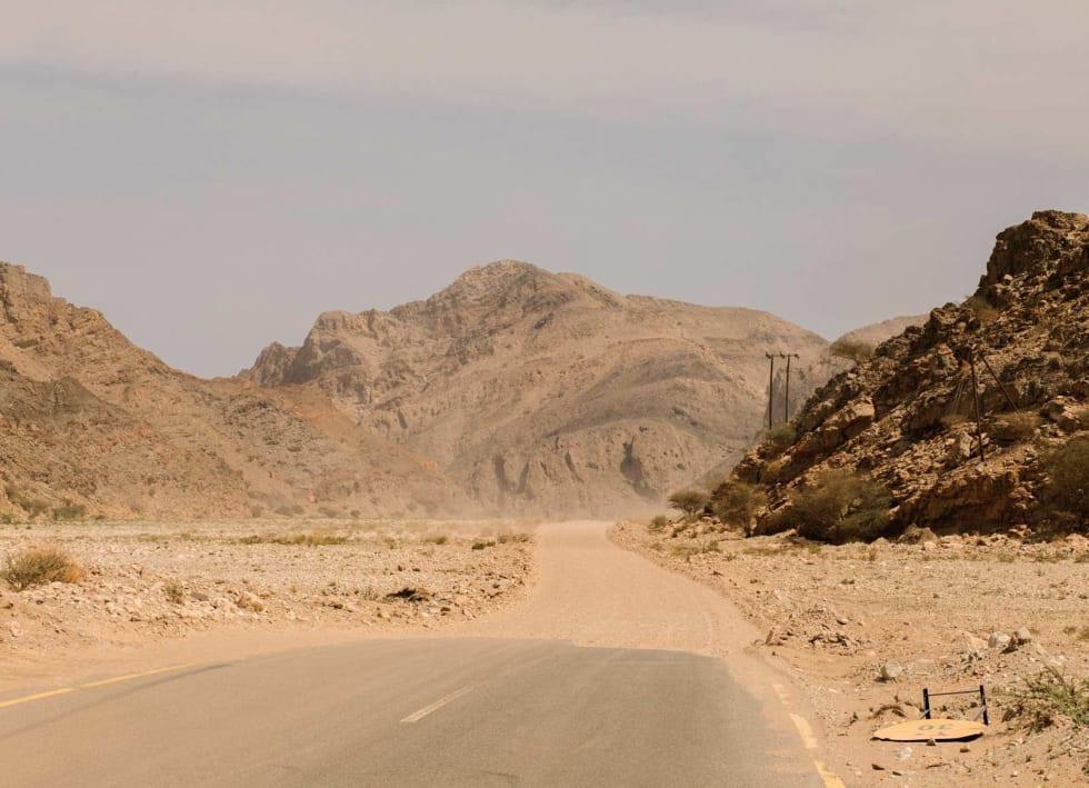 INGEN HVILE: På den andre dagen, etter klatringen til Jebel Shams, møter jeg plutselig på  Omansk dødsgrus.