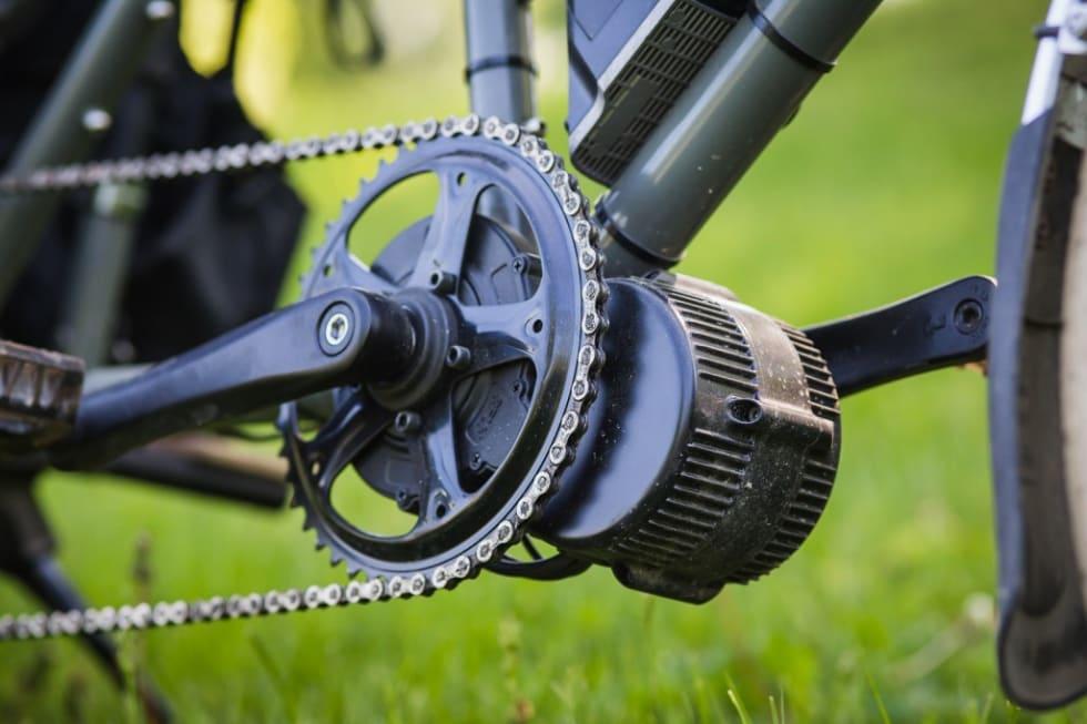 ETTERMONTERT: Bafang lanserte muligheten for å ettermontere elmotor på sykler på en rimelig måte. Mye har skjedd siden den gang. Her eksemplifisert fra cargobikemag.com