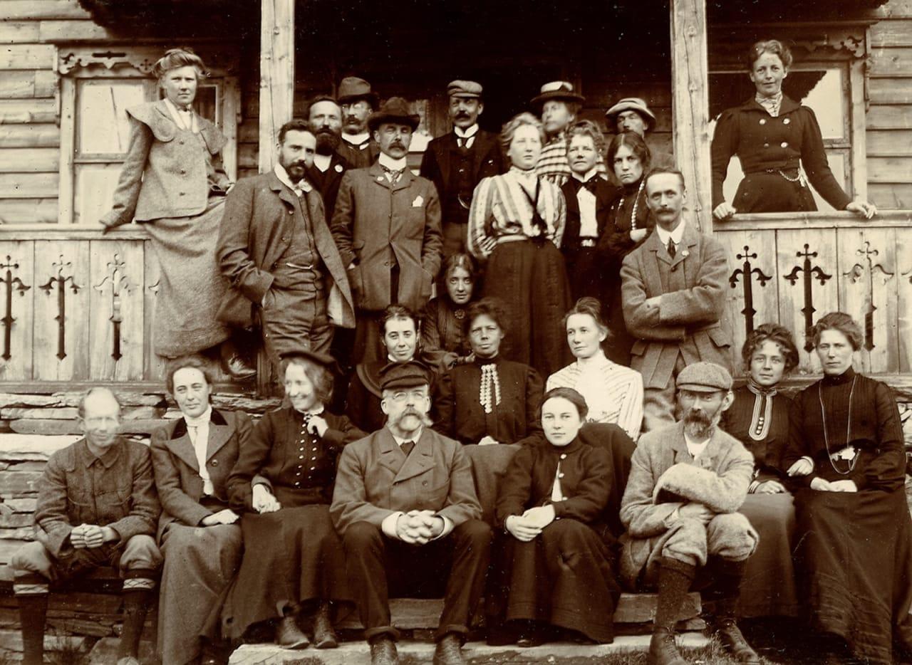 Turtagrø 1903. Foto av Norman Ling. Utlånt av SAC-Scottish Alpine Club